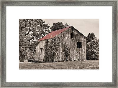The Red Roof Framed Print by JC Findley