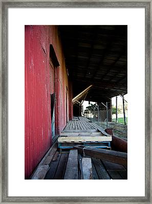 The Red Shed Framed Print