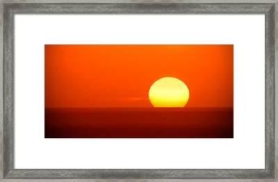 The Red Sky Framed Print