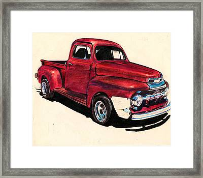 The Red Truck Framed Print