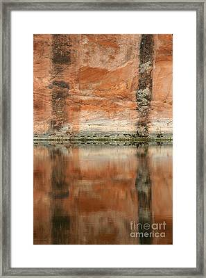Framed Print featuring the photograph The Reflecting Wall by Nola Lee Kelsey