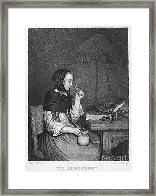 The Refreshment, 19th Cent Framed Print by Granger