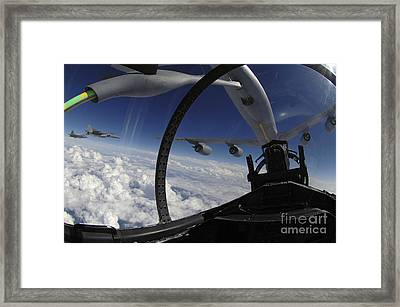 The Refueling Boom From A Kc-135 Framed Print by Stocktrek Images