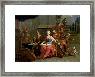 The Rehearsal Framed Print by Etienne Jeaurat