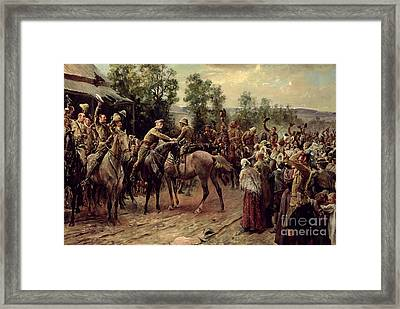 The Relief Of Ladysmith On 27th February 1900 Framed Print by John Henry Frederick Bacon