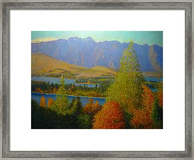 The Remarkables Autumn Framed Print