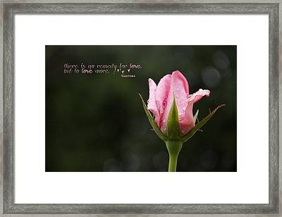 The Remedy Framed Print