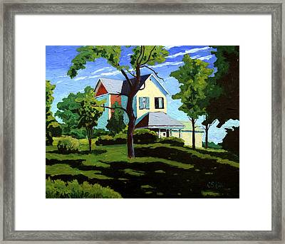 The Remodel Framed Print by Charlie Spear