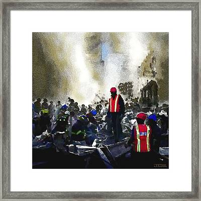 The Rescuers Framed Print by Jann Paxton