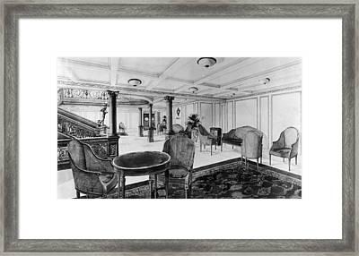 The Restaurant Reception Room Framed Print by Everett