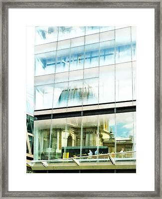 The Restaurant With A View Of St Pauls Cathedral Framed Print