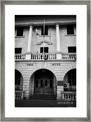 the restored nicosia post office building TRNC turkish republic of northern cyprus lefkosia Framed Print by Joe Fox