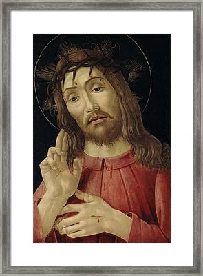 The Resurrected Christ Framed Print by Sandro Botticelli