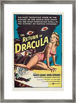 The Return Of Dracula, Francis Lederer Framed Print by Everett