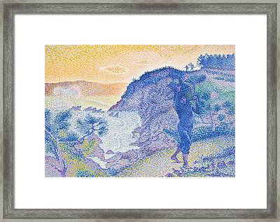 The Return Of The Fisherman Framed Print by Henri-Edmond Cross
