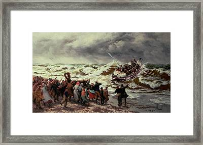 The Return Of The Lifeboat Framed Print by Thomas Rose Miles