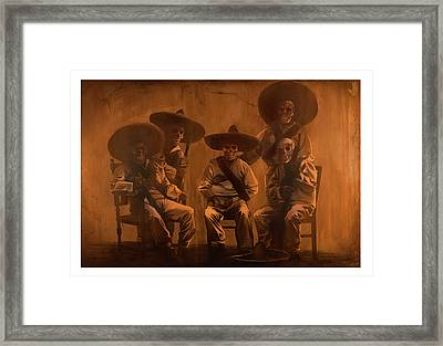 the Revolution begins within Framed Print