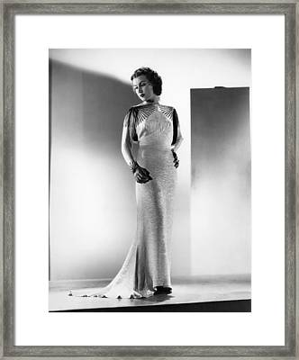 The Richest Girl In The World, Fay Framed Print by Everett