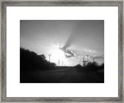 The Ride Home Framed Print by Amber Hennessey