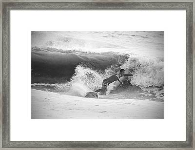 The Right Wave Framed Print