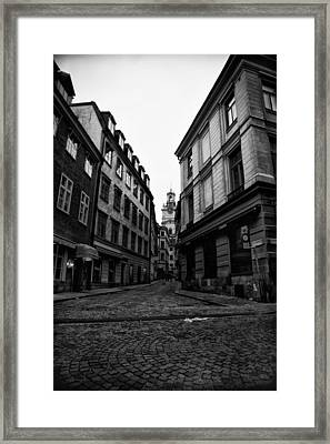 The Right Way Stockholm Framed Print