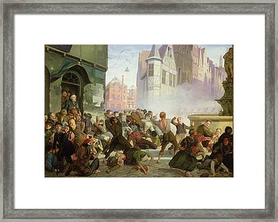 The Riot Framed Print by Philip Hoyoll