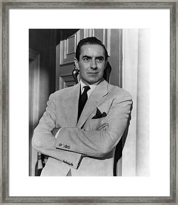 The Rising Of The Moon, Tyrone Power Framed Print by Everett