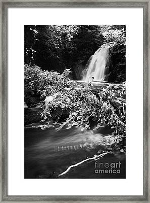 the river at the Gleno or Glenoe Waterfall beauty spot county antrim Framed Print by Joe Fox