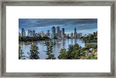 The River Commute Framed Print by Mark Lucey