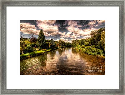 The River Exe At Bickleigh Framed Print by Rob Hawkins
