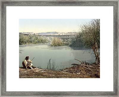 The River Jordan, Holy Land, Jordan Framed Print by Everett