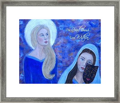 The Road Ahead Lies Within Framed Print by The Art With A Heart By Charlotte Phillips