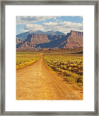 The Road Beckons Framed Print by Bob and Nancy Kendrick