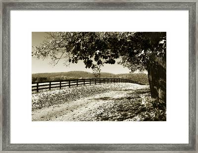 The Road Home -2 Framed Print by Alan Hausenflock