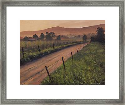 The Road Home Framed Print by Cliff Wassmann