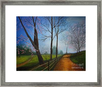 The Road Less Traveled Framed Print by Terri Maddin-Miller