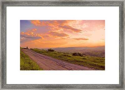 The Road Near Valley Framed Print