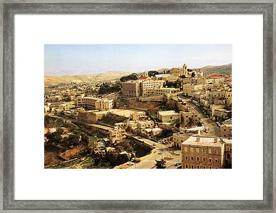 The Road To Nativity Church Framed Print by Munir Alawi