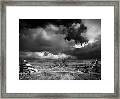 The Road To Nowhere Framed Print by Paul Davis