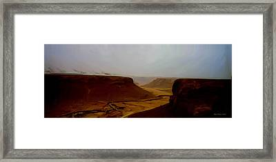 The Road To Seiyon Framed Print by Wayne Bonney