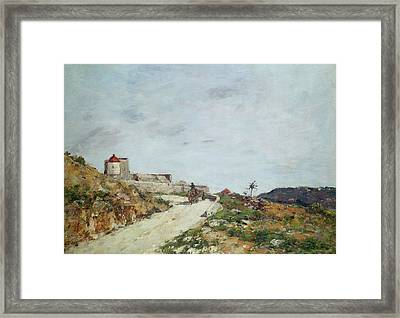 The Road To The Citadel At Villefranche Framed Print