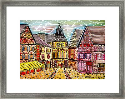 The Road To The Temple Framed Print by Valentina Kross