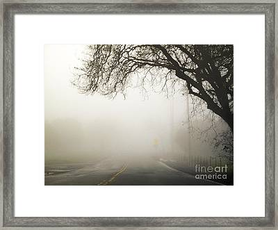 Framed Print featuring the photograph The Road To Work by Leslie Hunziker