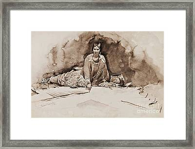 The Robe Framed Print by Pg Reproductions