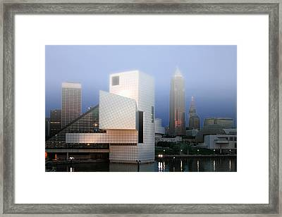 The Rock And Roll Hall Of Fame Framed Print by Richard Gregurich