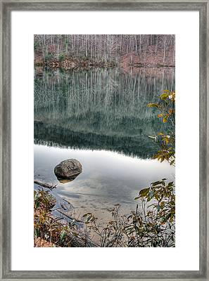 The Rock Framed Print by JC Findley