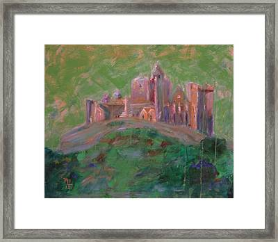 The Rock Of Cashel Framed Print by Rosemen Elsayad