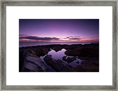 The Rock Pool At Dawn Framed Print