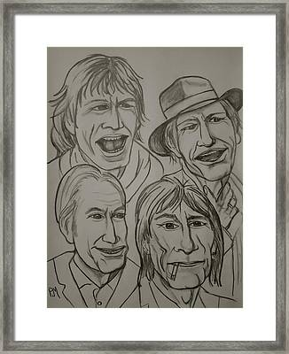 The Rolling Stones Framed Print by Pete Maier