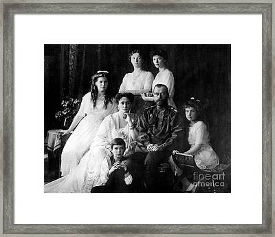 The Romanovs, Last Royal Family Framed Print by Photo Researchers